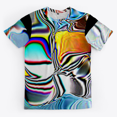 Abstract Painting And Art Black T-Shirt Front