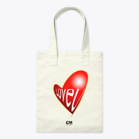"Tote Bag ""Love U"" De Guillermo Morante  Natural T-Shirt Front"