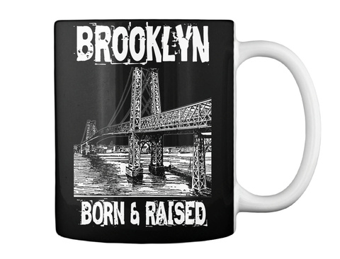 Brooklyn Born & Raised Black Mug Back