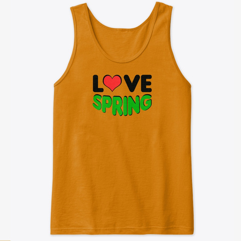 Love Spring Orange T-Shirt Front
