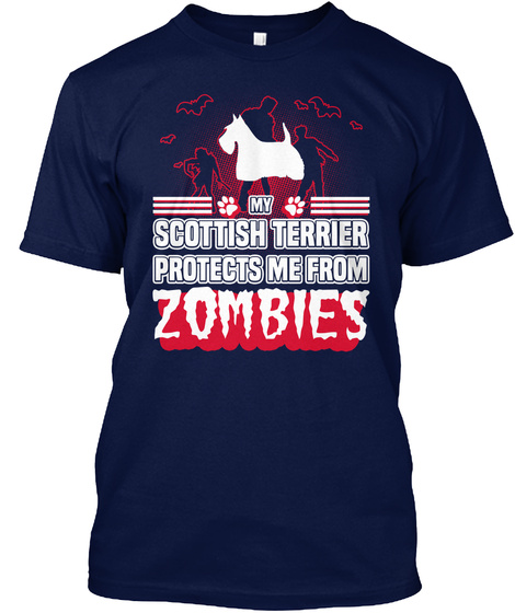 Scottish Terrier Navy T-Shirt Front