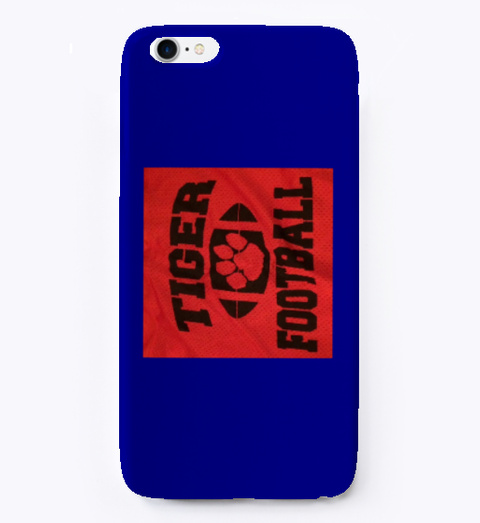 I Phone Tigers Deep Navy T-Shirt Front
