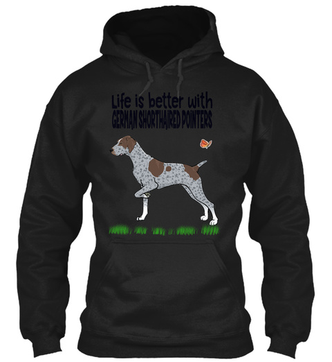 German Shorthaired Pointers Dog Cat Chri Black T-Shirt Front