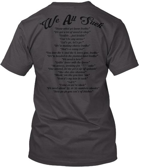 World Map Heathered Charcoal  T-Shirt Back