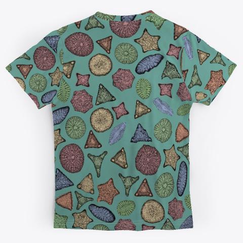 Diatoms Marine Biology Art Standard T-Shirt Back