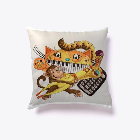 Cat Piano Entertainment Pillow Standard T-Shirt Front