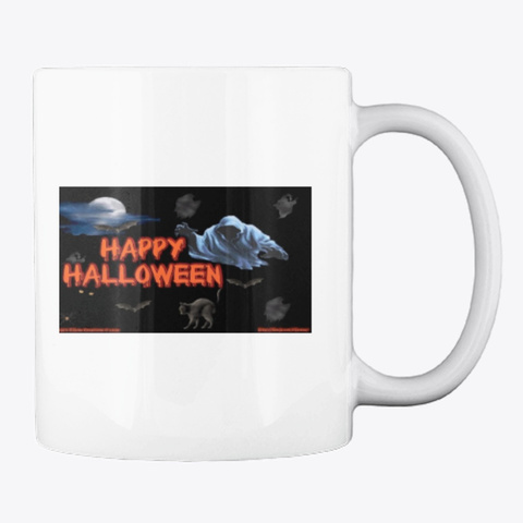 Collection Halloween Mugs White T-Shirt Back