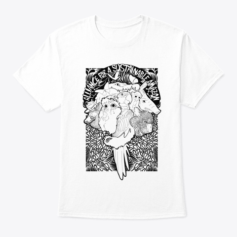 Amazonian Animals White T-Shirt Front