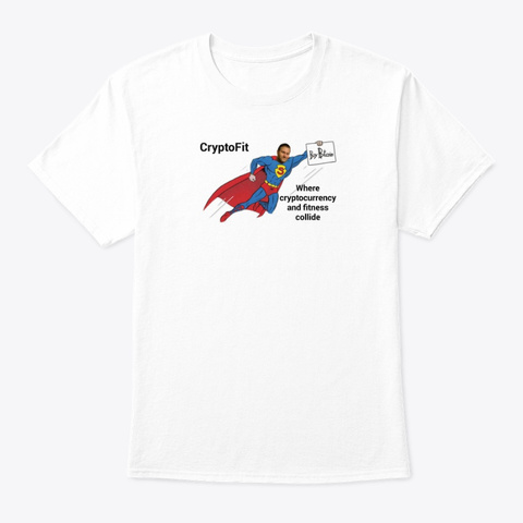 Crypto Fit White T-Shirt Front
