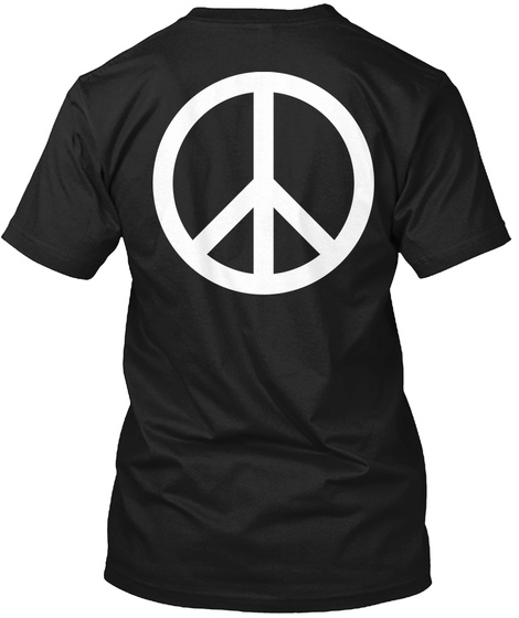 Peace And Bus Black Kaos Back
