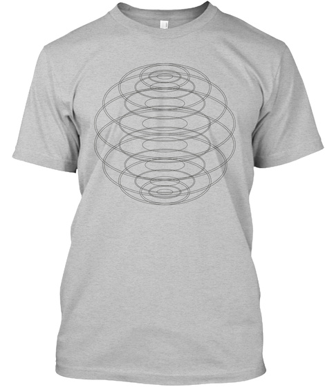 Wireframe Globe Light Heather Grey  T-Shirt Front