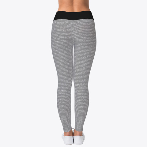 Pi Math Gray Legging Standard T-Shirt Back