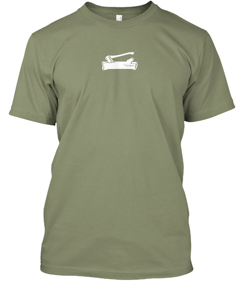 Woodbadge Ax And Log Light Olive T-Shirt Front