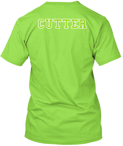 Cutter Lime T-Shirt Back