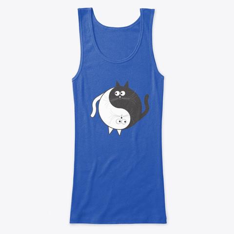 Yin Yang Cat True Royal   T-Shirt Front