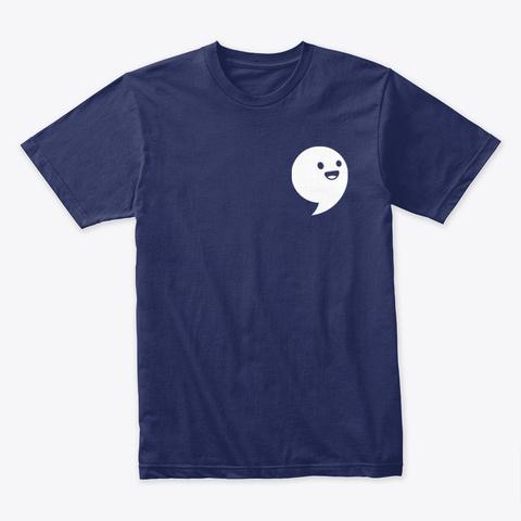 Commaful Dark T Shirts Midnight Navy T-Shirt Front
