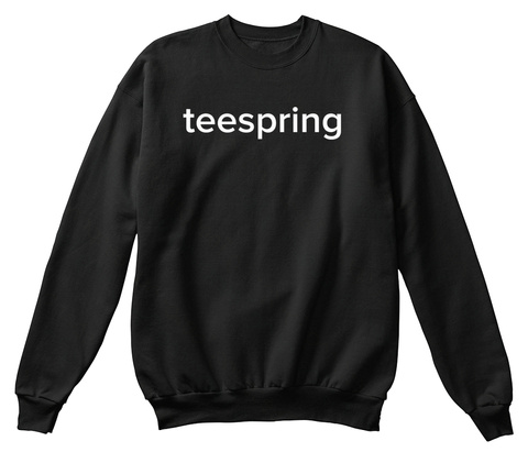Teespring Black T-Shirt Front