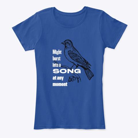 Karaoke Songbird Deep Royal  Women's T-Shirt Front