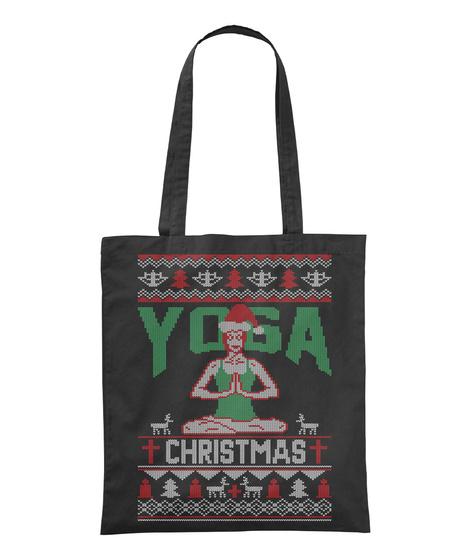 Yoga Christmas Black T-Shirt Front