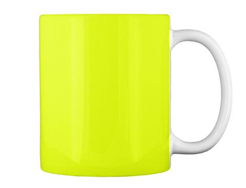 Every Woman  Neon Yellow Mug Back