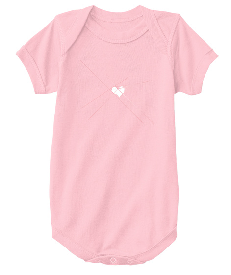 Baby Heart   White Pink T-Shirt Front