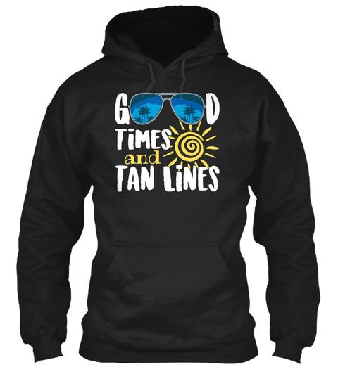 Good Ti Mes And Tan Li Nes Black T-Shirt Front