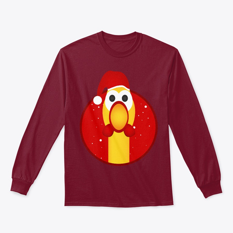 Christmas Chicken Cardinal Red T-Shirt Front