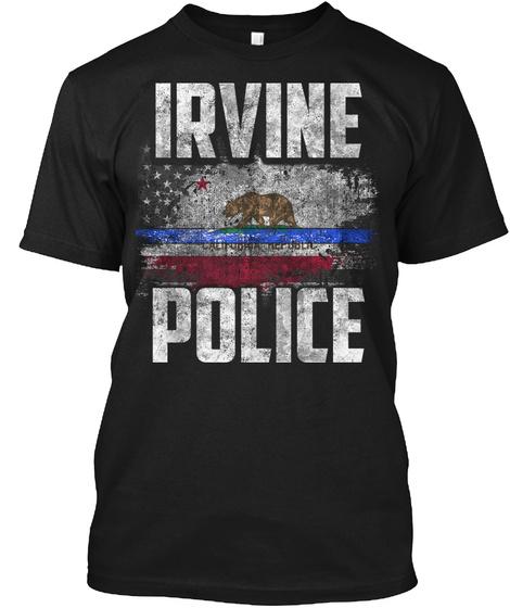 Irvine Police Black T-Shirt Front