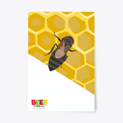 A Bee Making Honey Poster Standard T-Shirt Front