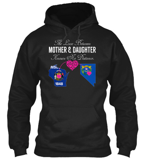 Mother Daughter   Wisconsin Nevada Black T-Shirt Front