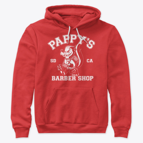 Pappy's Skunk Design Red T-Shirt Front