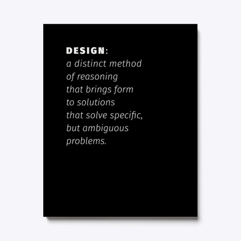 The Definition Of Design Black T-Shirt Front