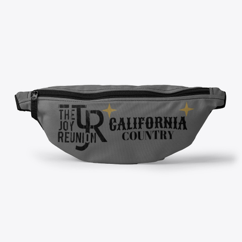 "Tjr ""Cal Country""  Fanny Pack Charcoal T-Shirt Front"