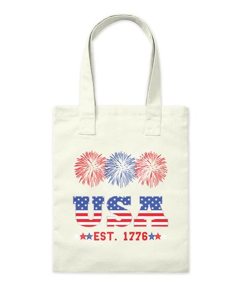 Tote Bag White Tiger USA Flag Natural Shopping Bag
