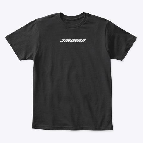 Classic Storror Logo Black T-Shirt Front