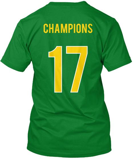 Champions 17 Bright Green T-Shirt Back