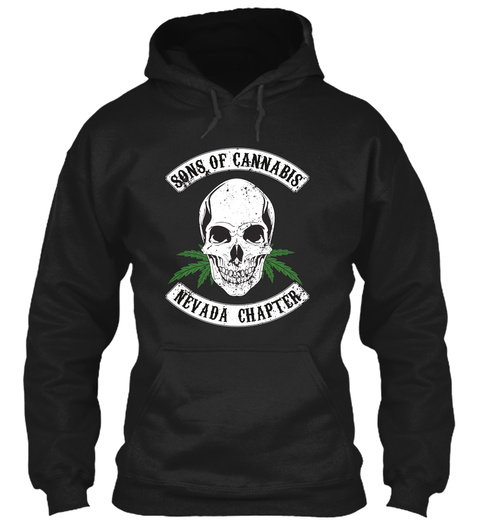 Sons Of Cannabis (Nevada) Hoodie Black T-Shirt Front