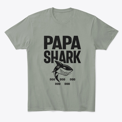 Papa Shark Doo doo doo Funny for Grandpa T-Shirt
