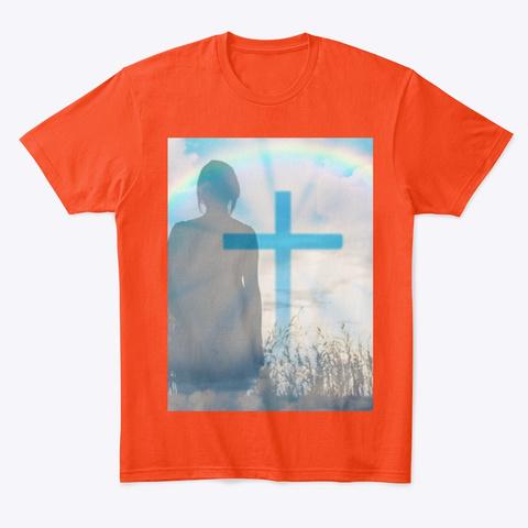 Peaceful Deep Orange  T-Shirt Front