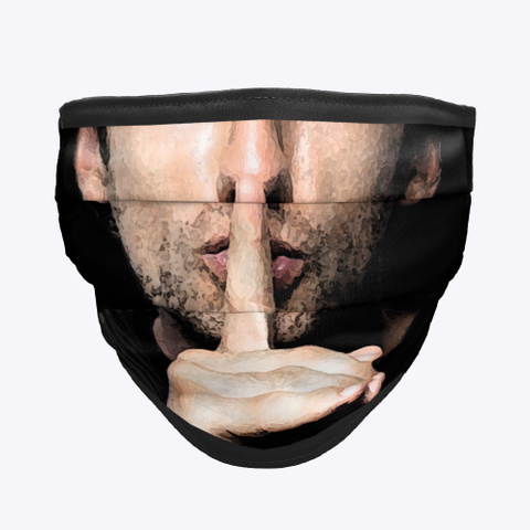 Silence Mask Black T-Shirt Front