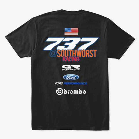 Southworst #737 Gas Can Team Only5 Black T-Shirt Back