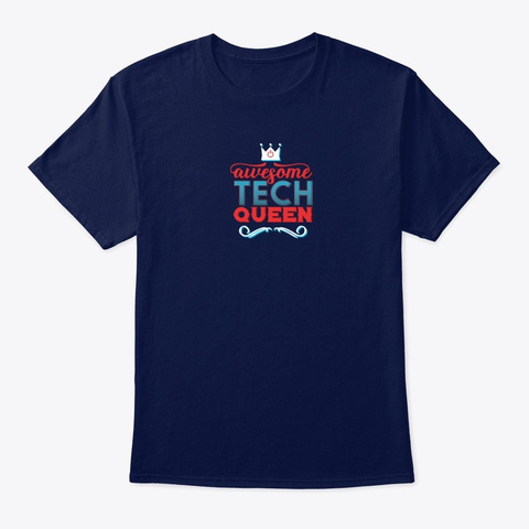 Awesome Tech Queen Ps Navy T-Shirt Front