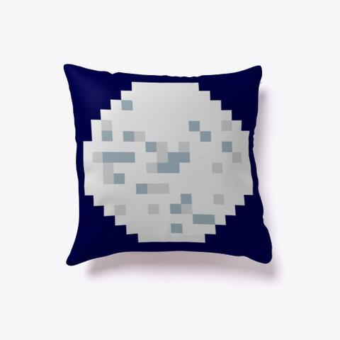 Pixel Art Moon Dark Navy T-Shirt Front