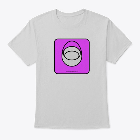 Burley T Shirt By Colour Points Light Steel T-Shirt Front