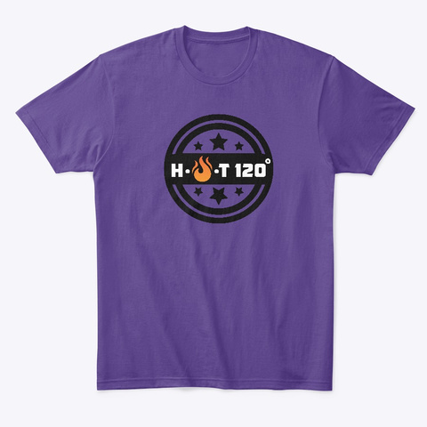 H.O.T120 Degrees#Transgender Series Purple T-Shirt Front