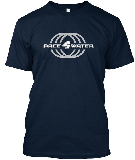 Race 4 Water New Navy T-Shirt Front
