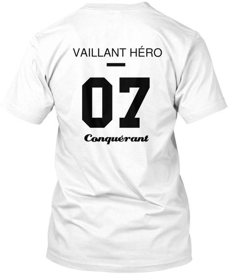 Vaillant Héro 07 Conquérant White T-Shirt Back
