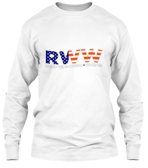 Rww Right Wing World Wake Up White T-Shirt Front