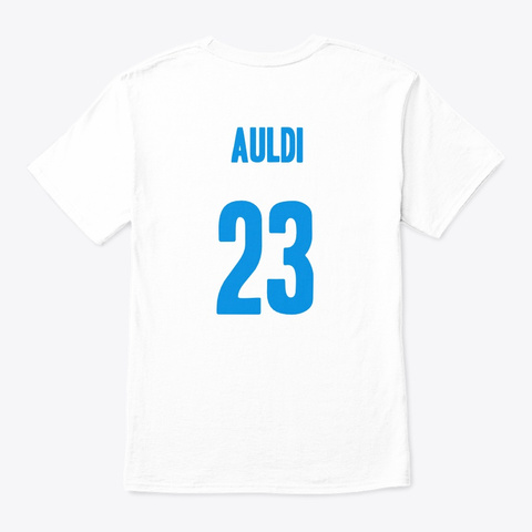 Auldi2 White T-Shirt Back
