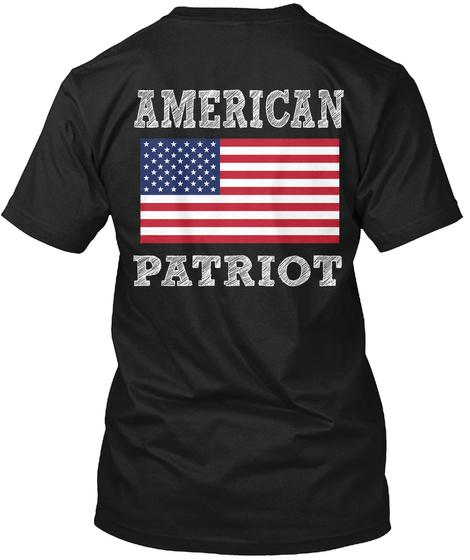 American Patriot Black T-Shirt Back